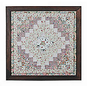 Woven Magic King Stam and Cabin Calico Pastels Miniature Quilt