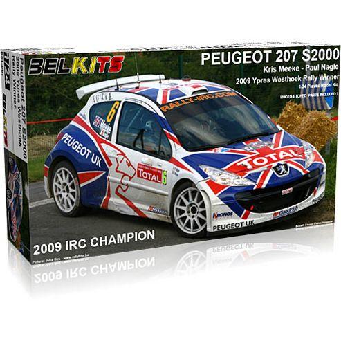 Belkits Peugeot 207 S2000 Rally Car Model Kit 1:24 001