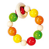 Heimess 734690 Wooden Elasticated Touch Ring Rattle (Rainbow)