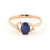 QP Jewellers 1.0ct Sapphire Classic Desire Ring in 14K Rose Gold
