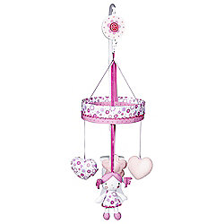 Red Kite Princess Pollyanna Cot Music Mobile Pink