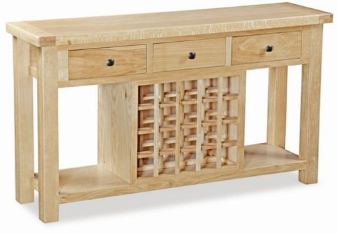 Alterton Furniture Chatsworth Console with Wine Rack