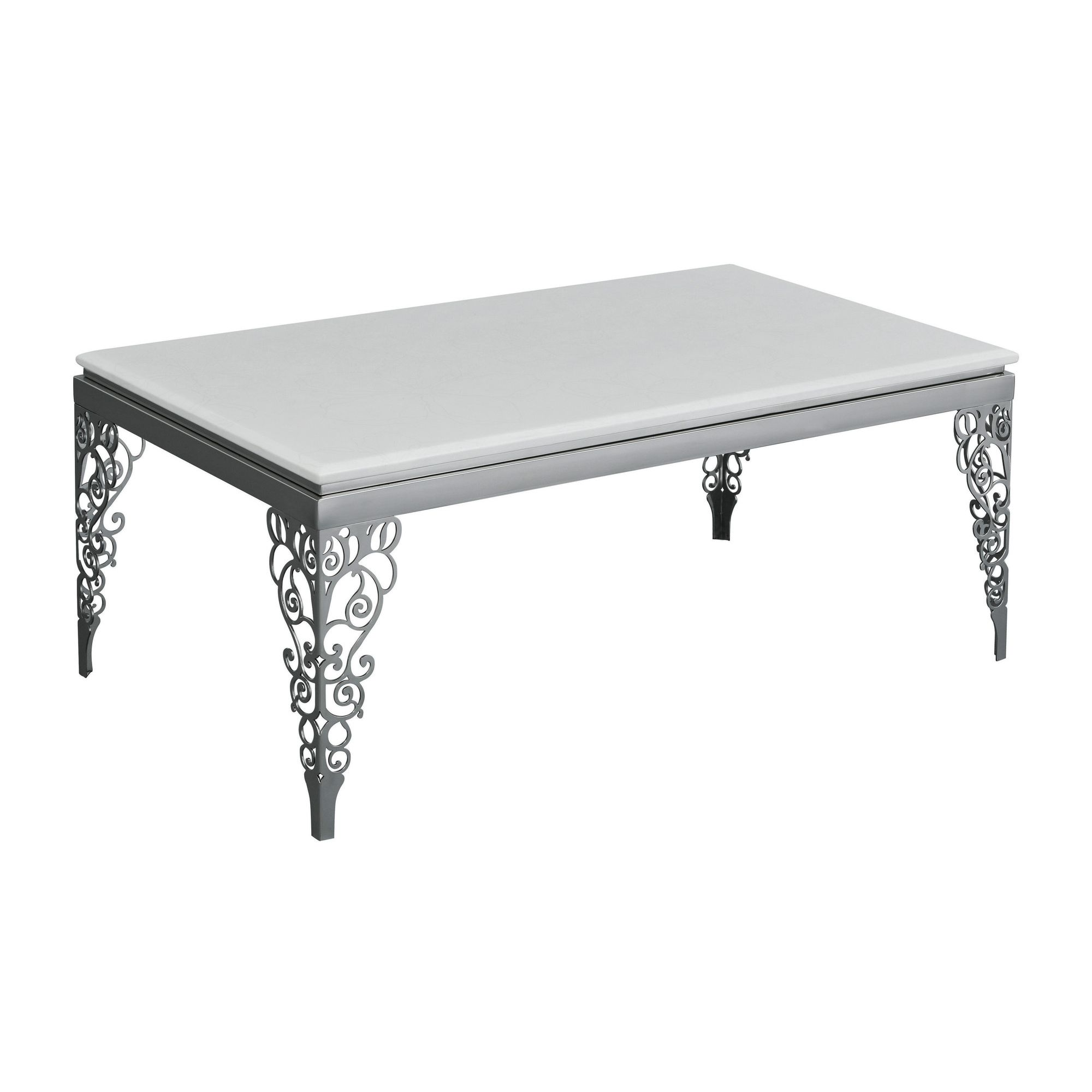 Premier Housewares Coffee Table with Stainless Steel Legs at Tesco Direct