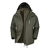 Mountain Warehouse Bracken Extreme 3 in 1 Mens Waterproof Jacket - Khaki