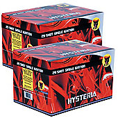 Hysteria 58 Shot Two Pack Fireworks
