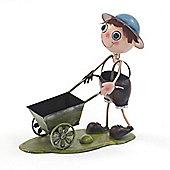 Honeysuckle Boy & Wheelbarrow Planter