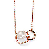 Rose Gold Plated Hoop and Pearl Pendant