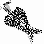 Urban Male Men's Two Tone Stainless Steel Guardian Angel Crossed Wing Pendant