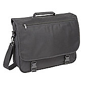 Falcon Black Polyester Messenger Bag