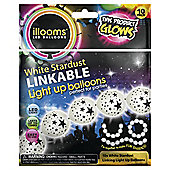 WHITE STARDUST LINKABLE BALLOONS 10pk
