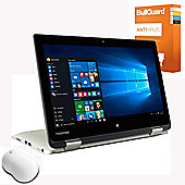 "Toshiba Radius CL10W-C-105 11.6"" Touchscreen Laptop Intel Celeron N3050 2GB RAM 32GB Windows 10 With Antivirus & Mouse"