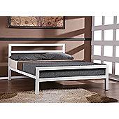 City Block White 3FT Single 90cm Metal Bed Frame