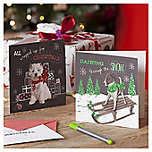 Cute Dog Christmas Cards, 10 pack