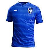 2014-15 Brazil Away World Cup Football Shirt - Blue