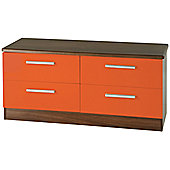 Welcome Furniture Knightsbridge 4 Drawer Chest - Oak - Ruby