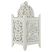 Metal Lantern Cream Large
