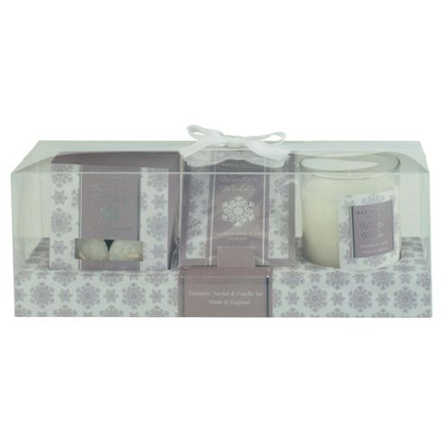 Wax Lyrical Winter Walks Tealights, Sachet & Candle Giftset