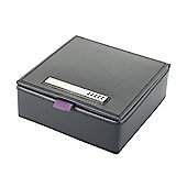 Richmond Black Leather 9 Place Cufflink Box