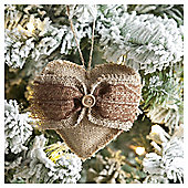 Weiste Fabric Heart Christmas Tree Decoration