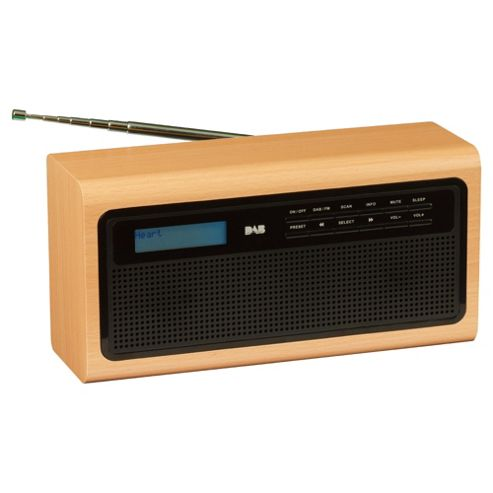 Tesco Lancaster DR 11204W Wooden Digital radio
