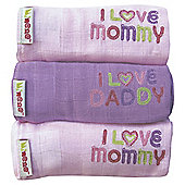 Minene Set of Muslin Pink/Purple