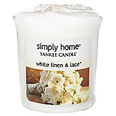 Yankee Candle Votive White Linen & Lace