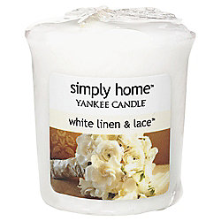Yankee Candle Votive, White Linen & Lace