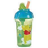 Winnie The Pooh Blue Click Lock Flip Straw Cup