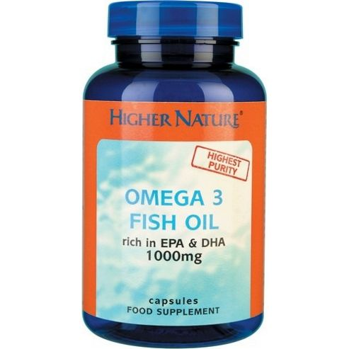 Higher Nature Omega 3 Fish Oil 1000mg 30 Gel Capsules