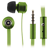 Kitsound Ribbons w/mic In-Ear Green
