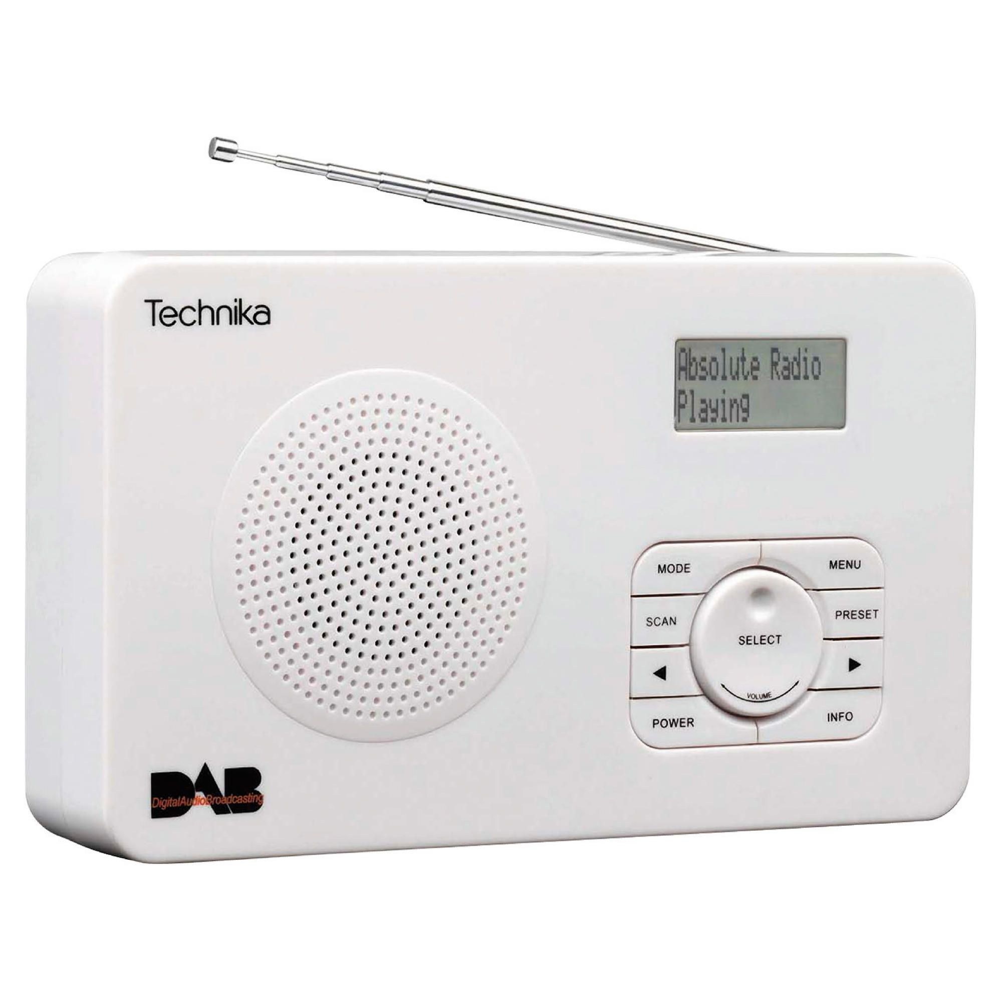 technika dr1301w dab radio best deals on dab radio. Black Bedroom Furniture Sets. Home Design Ideas