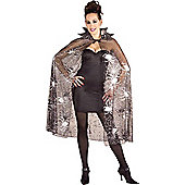 Spider Web Cape - Adult Costume 18+