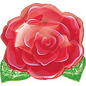 "Blooming Rose Valentines Balloon - 18"" Foil (each)"