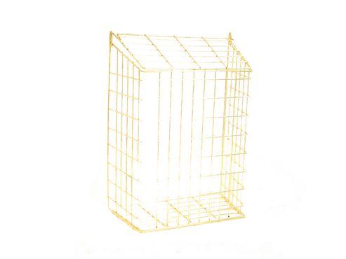 Gardeco Letter Cage Brass Colour 35X30X16cm
