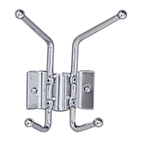 Safco Nail Head Coat Hook in Chrome (Set of 12)