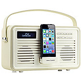 View Quest Retro ColourGen DAB+/FM Radio with iPod Dock (Cream, 8 Pin)