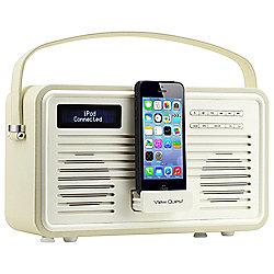 View Quest Retro ColourGen DAB+/FM Radio with iPod Dock (Cream, 8 Pin)