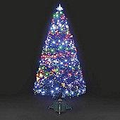 4ft Galaxy Multi-Colour Fibre Optic Christmas Tree with LEDs
