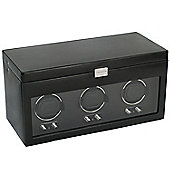 Wolf Designs Watch Winder with Cover and Watch Storage - Triple