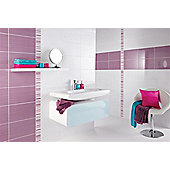 Brighton Lilac Ceramic Wall Tile 248x398mm