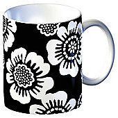 Tesco Single Porcelain Contemporary Flower Mug, Black