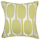 Tesco Cushions Retro Print Cushion, Green
