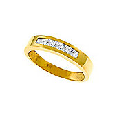 QP Jewellers 0.60ct White Topaz Princess Prestige Ring in 14K Gold