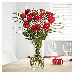 Be Mine Dozen Glittered Red Roses