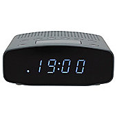 Tesco CR1401G FM Clock Radio Grey