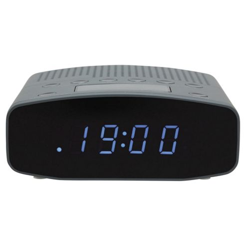 buy tesco cr1401g fm clock radio grey from our portable radio range tesco. Black Bedroom Furniture Sets. Home Design Ideas