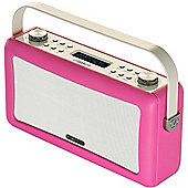 ViewQuest Hepburn DAB/DAB+/FM Radio with Bluetooth (Pink)