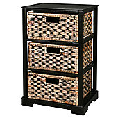 Miami - 3 Drawer Storage Cabinet - Brown / Black