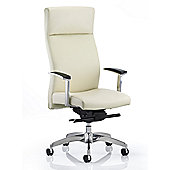 Maestro Solium High-Back Leather Executive Chair - White