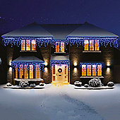 Premier Snowing LED Icicle Lights 360 Blue